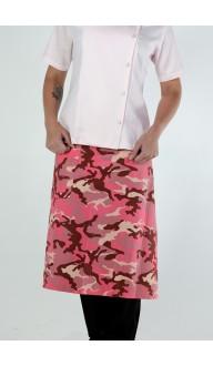 Avental Cintura Camuflado Rosa