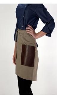 Avental Cintura Caki Bolso Cou