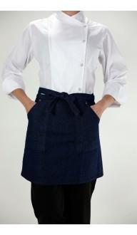 Avental Cintura Sainha Jeans