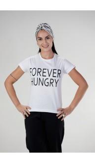 Camiseta Feminina Branca FOREVER HUNGRY