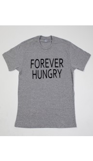 Camiseta Masculina Cinza FOREVER HUNGRY