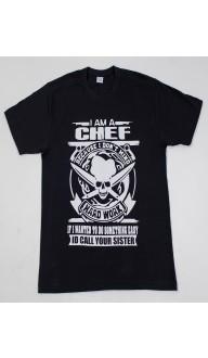 Camiseta Masculina Preta I AM A CHEF