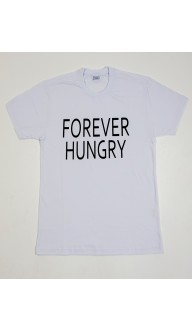 Camiseta Masculina Branca FOREVER HUNGRY