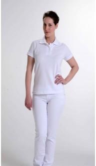 Camiseta Polo Feminina Branca